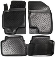 Коврики в салон для Chevrolet Epica '07-12 полиуретановые, черные (Nor-Plast)