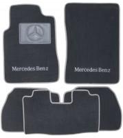Коврики в салон для Mercedes E-Class W210 1995 - 2002 евростандарт текстильные, серые (Люкс)