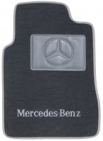 Фото 2 - Коврики в салон для Mercedes E-Class W210 1995 - 2002 евростандарт текстильные, серые (Люкс)