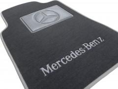 Фото 8 - Коврики в салон для Mercedes E-Class W210 1995 - 2002 евростандарт текстильные, серые (Люкс)