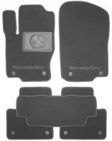Коврики в салон для Mercedes GL/GLS X166 '12- текстильные, серые (Люкс) 8 клипсы