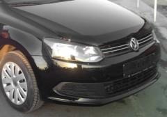 Дефлектор капота для Volkswagen Polo '09-15, c логотипом (EGR)