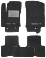 Коврики в салон для Hyundai Creta с 2016 текстильные, черные (Люкс)