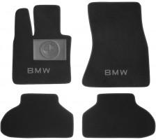 Коврики в салон для BMW X-6 F16 с 2015 текстильные, черные (Люкс)