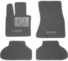Коврики в салон для BMW X-6 F16 '15- текстильные, серые (Премиум)