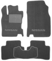 Коврики в салон для Nissan Qashqai с 2014 текстильные, серые (Люкс)