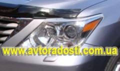 Защита фар для Lexus LX  '09- прозрачная 2 шт. (EGR)