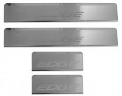Накладки на пороги для Ford Edge '16- (Premium)
