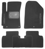 Коврики в салон для Hyundai Elantra AD с 2016 текстильные, черные (Nubuck)