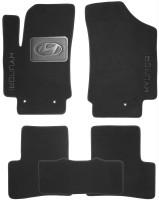 Коврики в салон для Hyundai Creta с 2016 текстильные, черные (Nubuck)