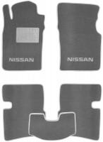 Коврики в салон для Nissan Primera P10-P11 1991 - 2001 текстильные, серые (Люкс)