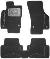 Коврики в салон для Volkswagen Passat B8 с 2015 текстильные, черные (Nubuck) 4 клипсы