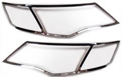Накладка фар для Mitsubishi Outlander XL '07-10  хром 2 шт. (EGR)