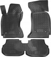 Коврики в салон для Audi A4 1995 - 1999 резиновые, черные (AVTO-Gumm)