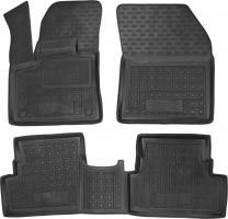 Коврики в салон для Peugeot 3008 с 2017 резиновые, черные (AVTO-Gumm)