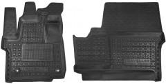 Коврики в салон для Peugeot Traveller с 2016 резиновые, черные (AVTO-Gumm) 1+2