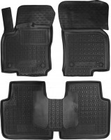Коврики в салон для Skoda Kodiaq с 2017 резиновые, черные (AVTO-Gumm)