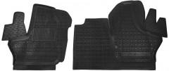 Коврики в салон для ГАЗ Next с 2013 резиновые, черные (AVTO-Gumm)