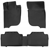 Коврики в салон для Mitsubishi Pajero Sport с 2016 полиуретановые, черные (Nor-Plast)