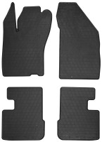 Коврики в салон для Fiat Tipo c 2016 резиновые, черные (Stingray)