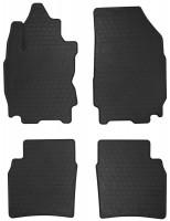 Коврики в салон для Nissan Note 2006 - 2013 резиновые, черные (Stingray)
