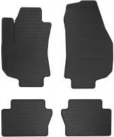 Коврики в салон для Opel Zafira B 2005 - 2013 резиновые, черные (Stingray)