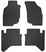 Коврики в салон для Toyota Hilux 2005 - 2015 резиновые, черные (Stingray)