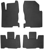 Коврики в салон для Lexus NX c 2014 резиновые, черные (Stingray)
