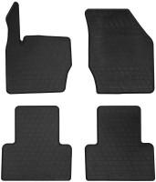 Коврики в салон для Volvo XC90 2003 - 2014 резиновые, черные (Stingray)