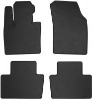 Коврики в салон для Volvo XC90 c 2015 резиновые, черные (Stingray)