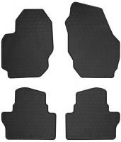 Коврики в салон для Volvo S80 2006 - 2016 резиновые, черные (Stingray)