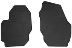 Коврики в салон передние для Volvo V70 2007 - 2016 резиновые, черные (Stingray)