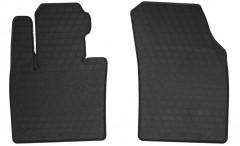 Коврики в салон передние для Volvo XC90 c 2015 резиновые, черные (Stingray)