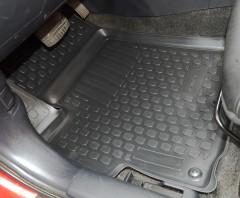 Фото 7 - Коврики в салон для Mitsubishi Lancer X (10) '07- полиуретановые, черные (L.Locker)