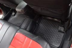 Фото 9 - Коврики в салон для Mitsubishi Lancer X (10) '07- полиуретановые, черные (L.Locker)