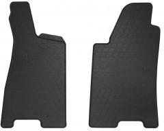 Коврики в салон передние для Audi 80 B4 '91-94 резиновые, черные (Stingray)