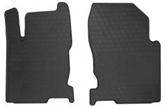 Коврики в салон передние для Lexus NX c 2014 резиновые, черные (Stingray)