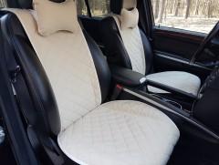 Накидки на передние сидения  АVторитет Премиум, бежевые