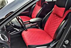 Накидки на передние сидения  АVторитет Премиум, красные