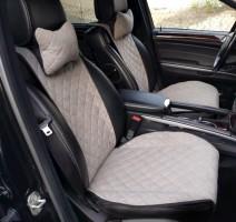 Накидки на передние сидения  АVторитет Премиум, серые