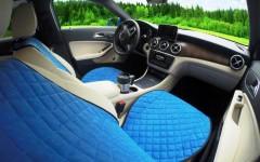 Накидки на передние сидения  АVторитет Премиум, синие