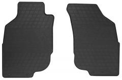 Коврики в салон передние для Toyota Hilux 2005 - 2015 резиновые, черные (Stingray)