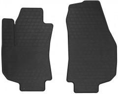 Коврики в салон передние для Opel Zafira B 2005 - 2013 резиновые, черные (Stingray)