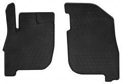 Коврики в салон передние для Mitsubishi Galant 2004 - 2012 резиновые, черные (Stingray)