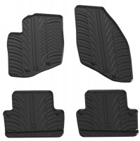 Коврики в салон для Volvo S60 2000 - 2010 резиновые, черные (GledRing)
