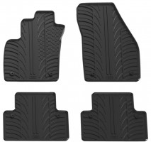Коврики в салон для Volvo V50 2004 - 2012 резиновые, черные (GledRing)