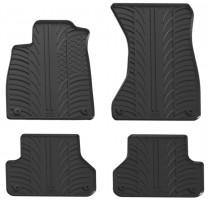Коврики в салон для Audi A4 с 2015 резиновые, черные (GledRing)