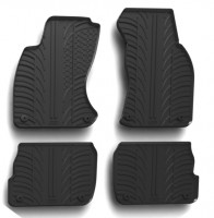 Коврики в салон для Audi A6 1997 - 2005 резиновые, черные (GledRing)
