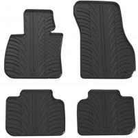 Коврики в салон для BMW X1 F48 с 2015 резиновые, черные (GledRing)