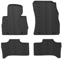 Коврики в салон для BMW X5 E53 2000 - 2007 резиновые, черные (GledRing)
